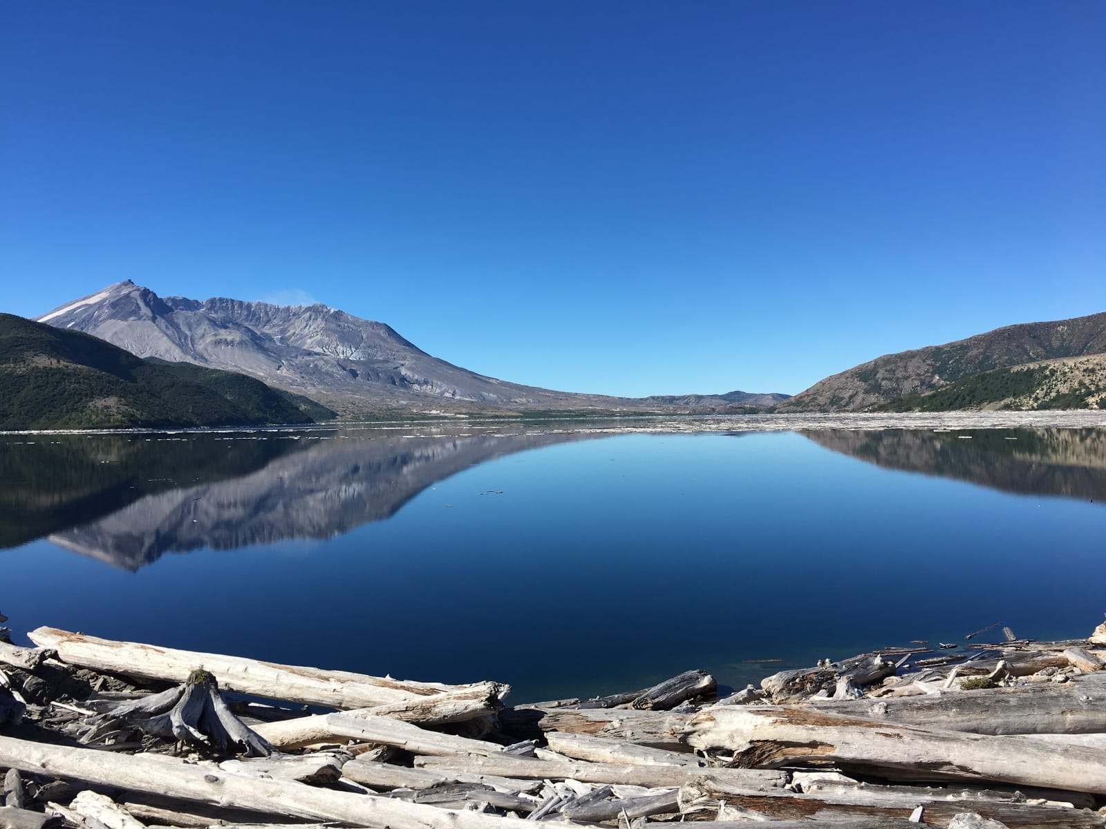 mountain reflected in lake by Amy Wagner
